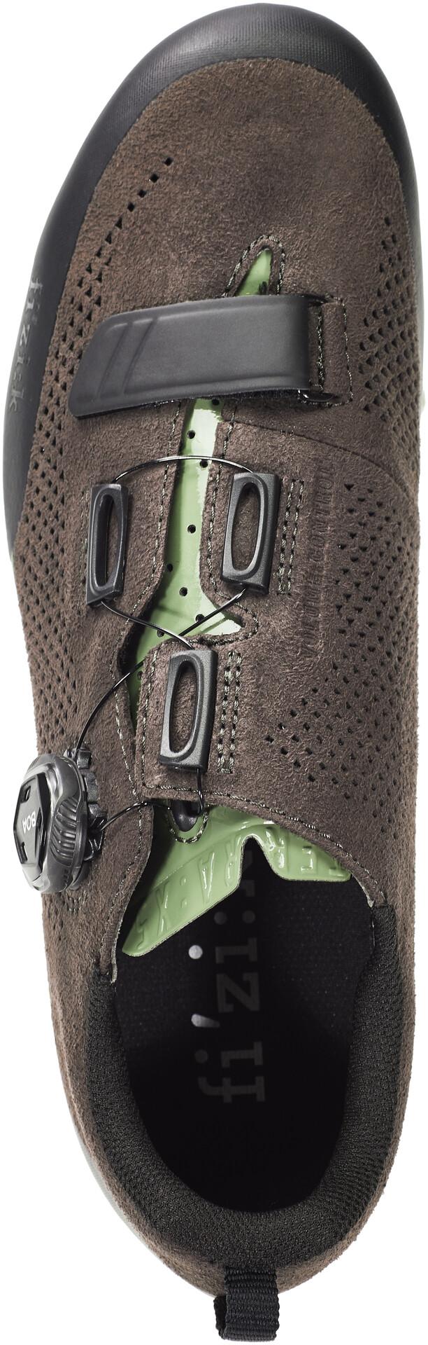 Fizik Terra X5 Suede MTB sko, dark brownsage green